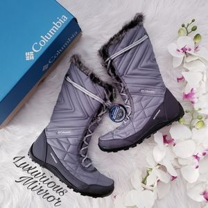 Columbia Minx Mid III Lace Up Insulated Gray Boots